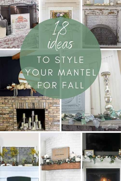 18 Fall Mantel Ideas to Style Your Fireplace