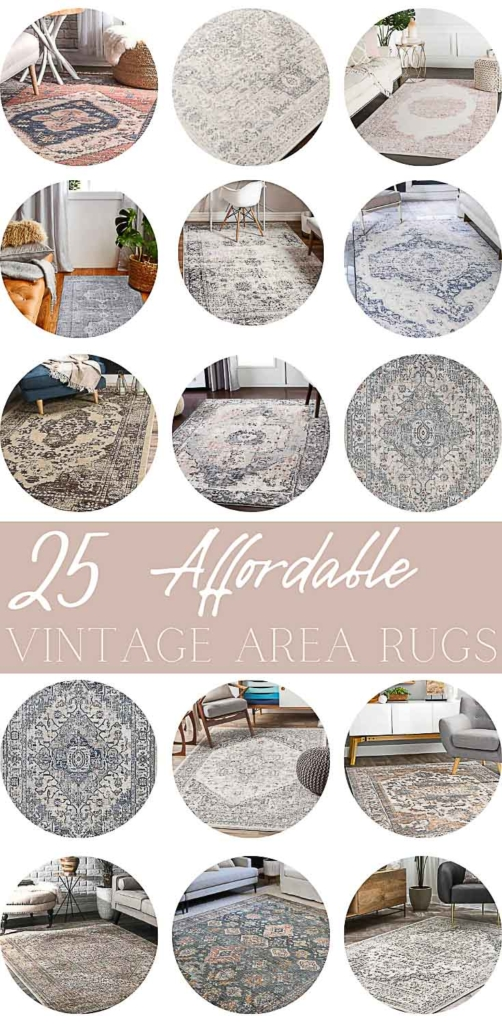 25 affordable vintage area rugs