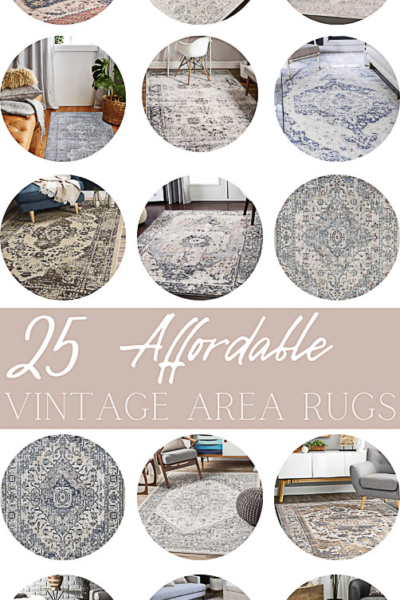 25 Affordable Vintage Area Rugs and Where to Buy Them!