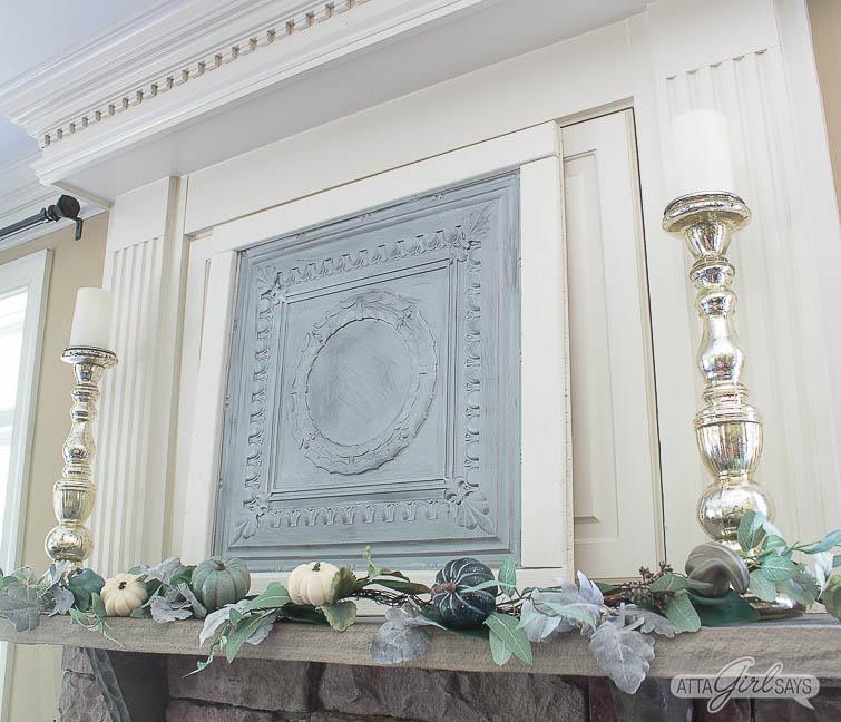 elegant fall mantel decorating