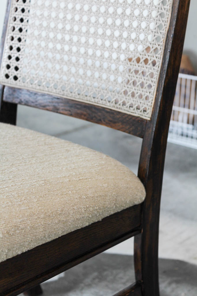 Cane back dining chair makeover