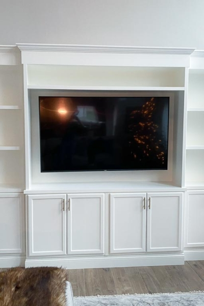 Our DIY Built-in Media Center Reveal (Material List & Cost Included)