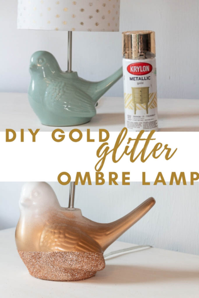 DIY Gold Glitter Ombre Lamp