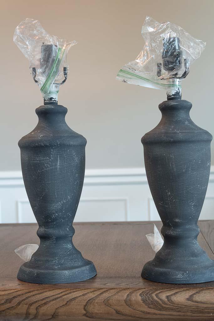 DIY Rustic table lamp