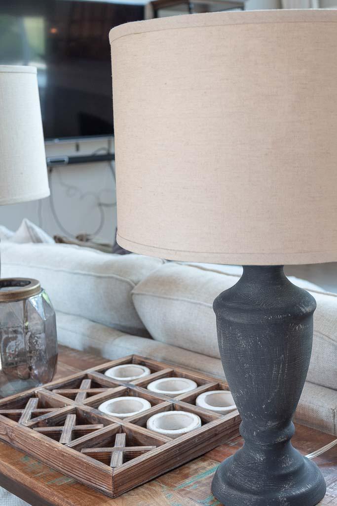 DIY Rustic Table Lamp: Pottery Barn Faris Lamp Dupe