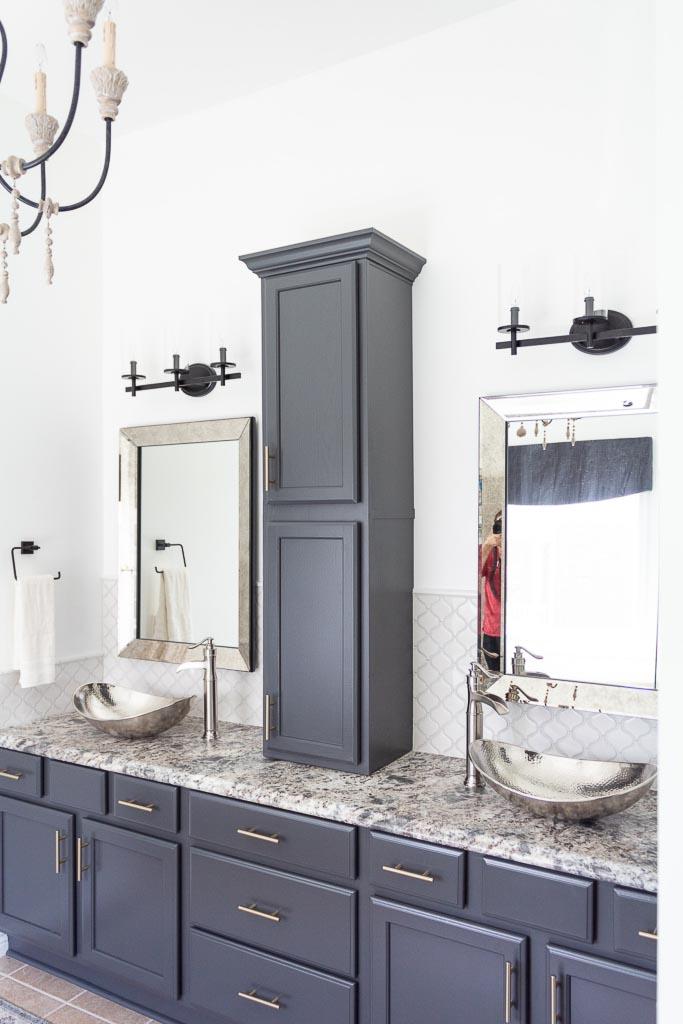 DIY bathroom countertop cabinet