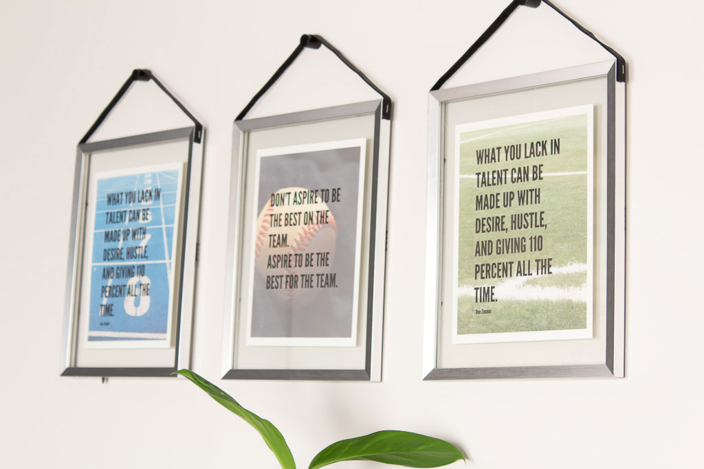 DIY leather strap picture frame