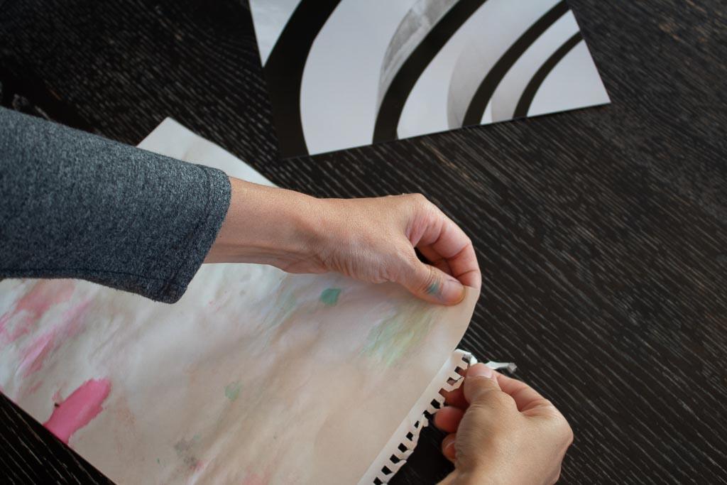 DIY watercolor wall art