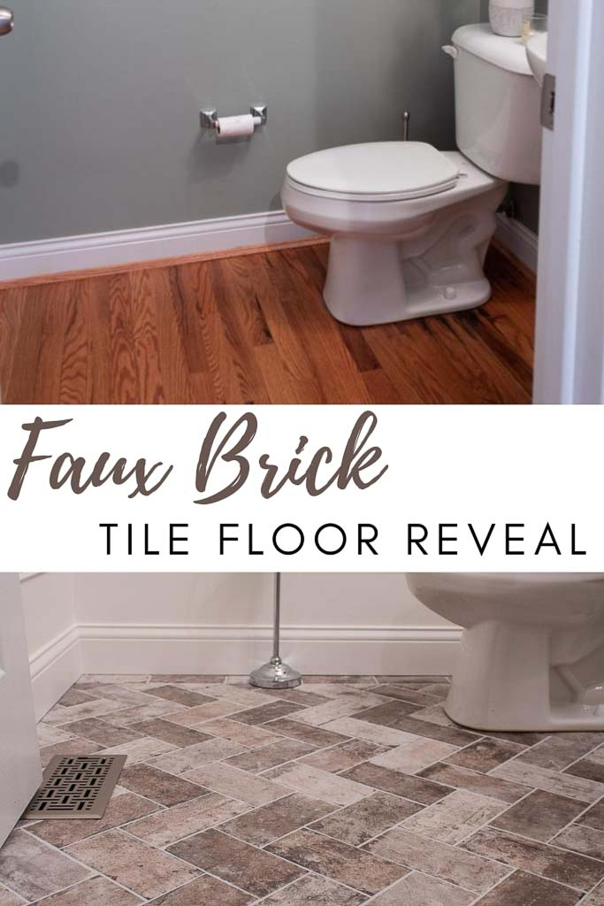 Our DIY Faux Brick Floor