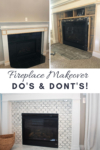 marble tiled fireplace