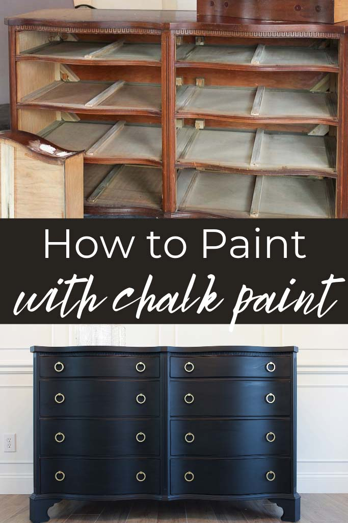 How to Paint With Chalk Paint: A Chalk Paint Dresser Makeover