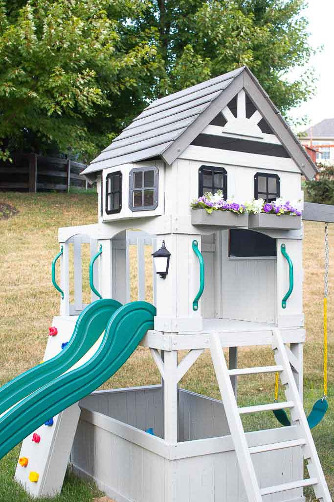 Our Swing Set Makeover: How to Make Old Look New Again