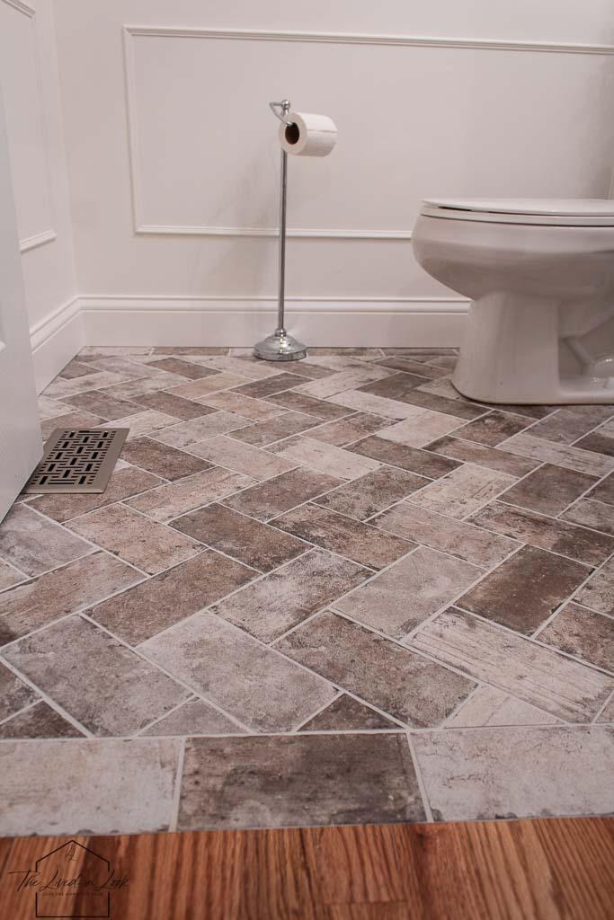 Diy Faux Brick Floor Look For Less, Brick Laminate Flooring