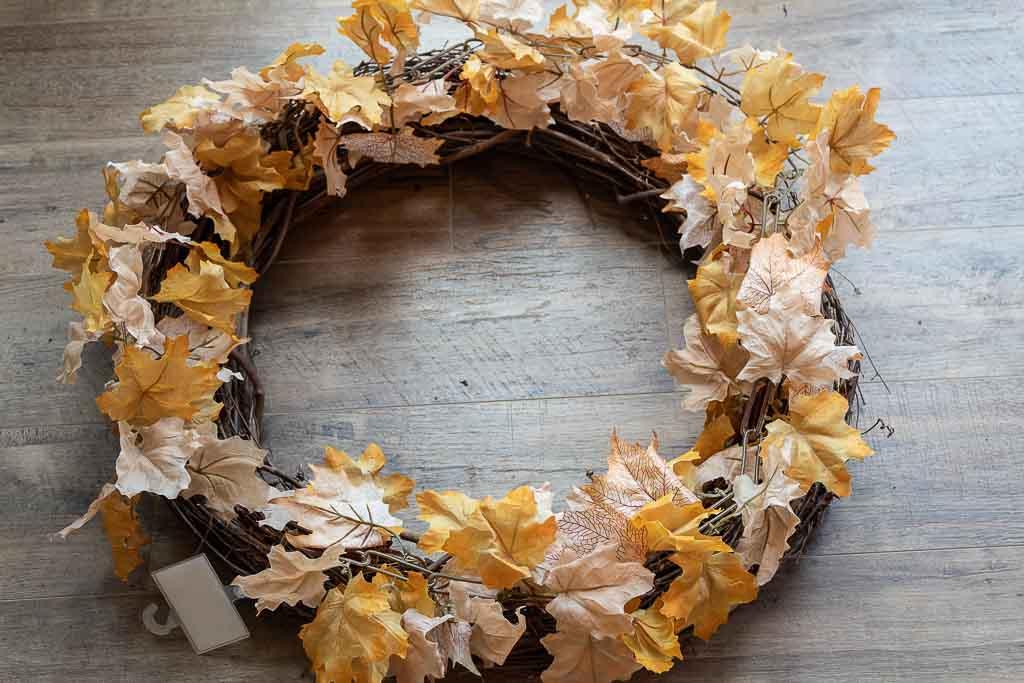easy fall wreath to make