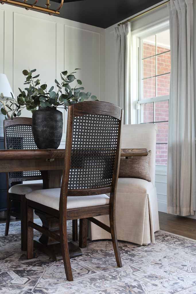 Cane Back Dining Chair Makeover: A Vintage DIY Upgrade