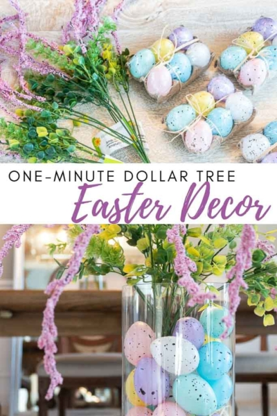 One Minute Dollar Tree Easter Décor