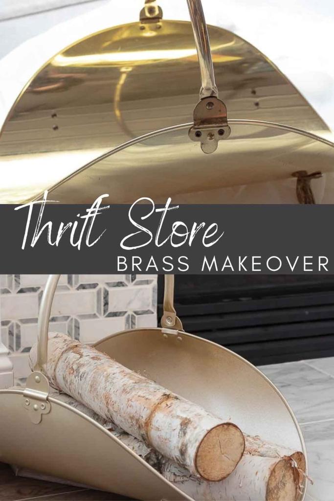 Thrift Store brass makeover