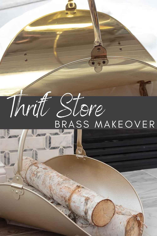 Vintage Firewood Holder Flip – Thrift Store Brass to Class