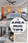 how to place an area rug