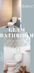 glam powder room