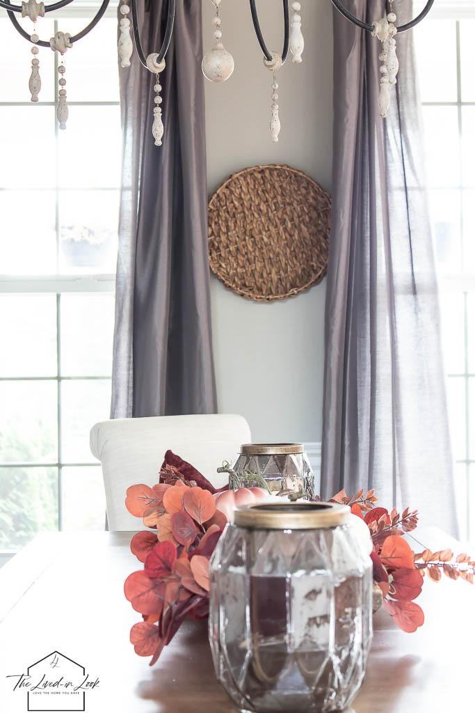 fall dining room decor