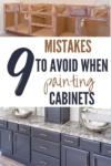 cabinet painting mistakes