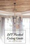 diy planked ceiling