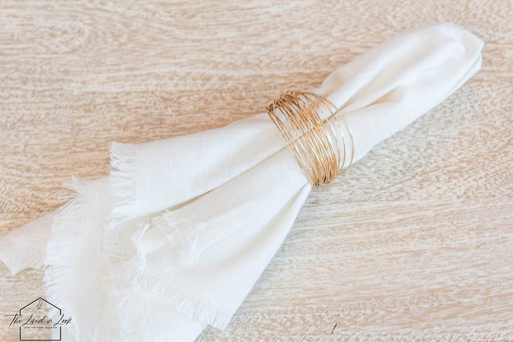 DIY wire napkin rings