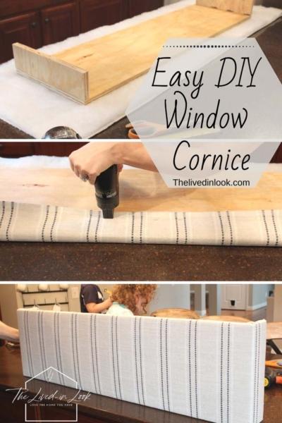 Easy DIY Window Cornice You Need to Make Now