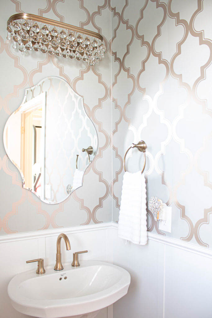 Take Your Builder Bathroom from Basic to Breathtaking: Glam Powder Room Makeover
