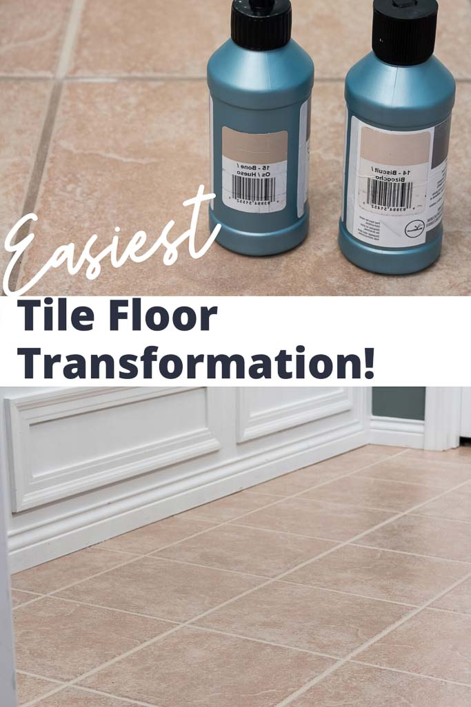 Grout Paint Before and After: The Easiest Tile Floor Transformation!