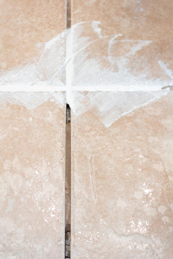 how to repair cracked tile grout