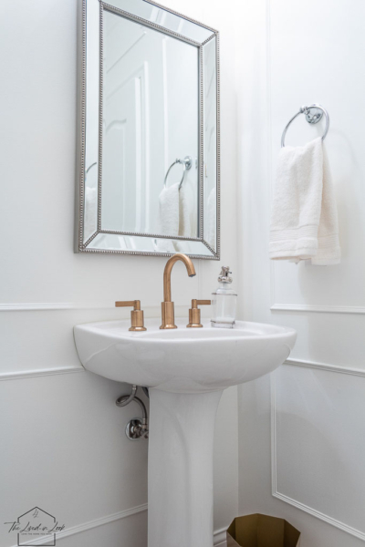 A Guide to Mixing Metals in The Bathroom: Our Powder Room Reveal