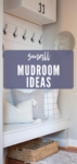 small mudroom organization and storage