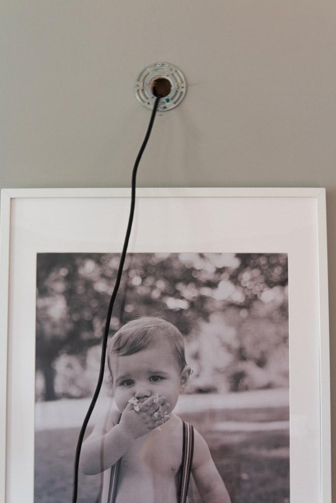 plug in wall sconce DIY