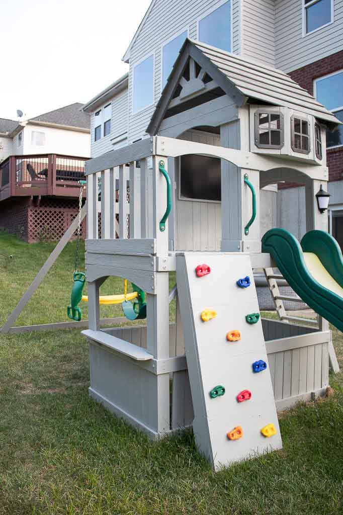 Our Swing Set Makeover How To Make Old Look New Again The Lived In Look