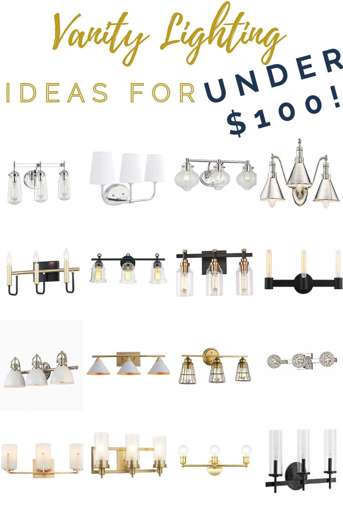 Replace Your Builder Grade Vanity Lights For Under $100!