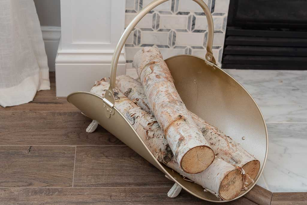 vintage firewood holder