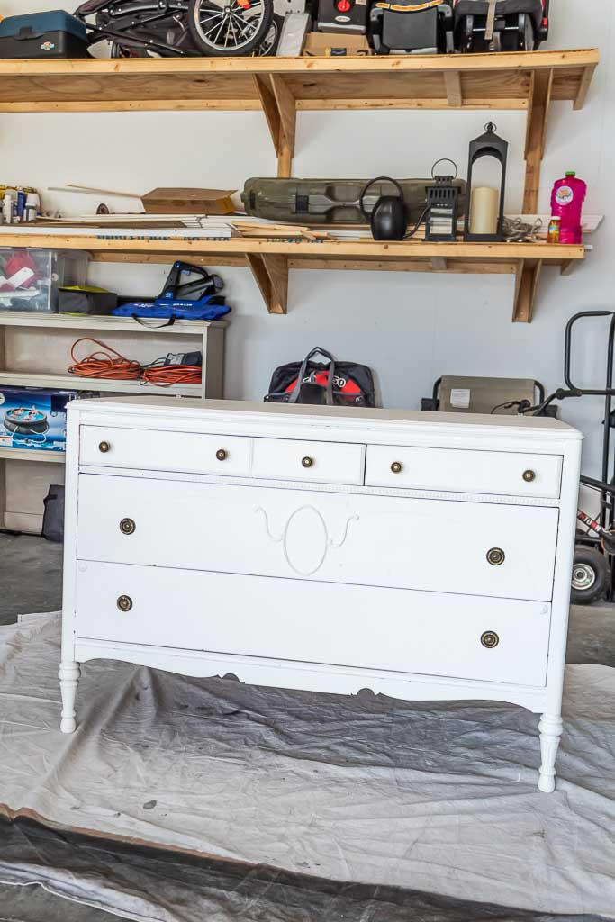 how to paint over chalk paint